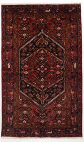 Zanjan Matto 125X205 Itämainen Käsinsolmittu Tummanruskea/Tummanpunainen (Villa, Persia/Iran)
