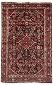 Hamadan Matto 133X208 Itämainen Käsinsolmittu Tummanpunainen/Tummanruskea (Villa, Persia/Iran)
