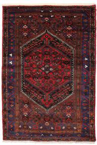 Zanjan Matto 138X205 Itämainen Käsinsolmittu Tummanpunainen/Tummanruskea (Villa, Persia/Iran)