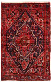Zanjan Matto 137X212 Itämainen Käsinsolmittu Tummanpunainen/Ruoste (Villa, Persia/Iran)