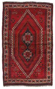 Shiraz Matto 130X210 Itämainen Käsinsolmittu Tummanpunainen (Villa, Persia/Iran)