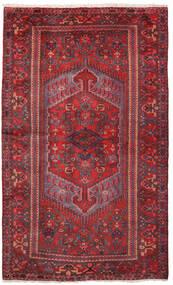Zanjan Matto 133X218 Itämainen Käsinsolmittu Tummanpunainen/Punainen (Villa, Persia/Iran)