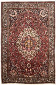 Mashad Matto 198X295 Itämainen Käsinsolmittu Tummanruskea/Vaaleanruskea (Villa, Persia/Iran)
