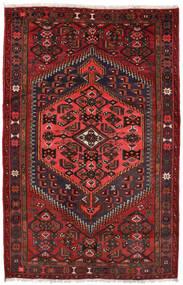 Zanjan Matto 127X198 Itämainen Käsinsolmittu Tummanpunainen/Musta (Villa, Persia/Iran)