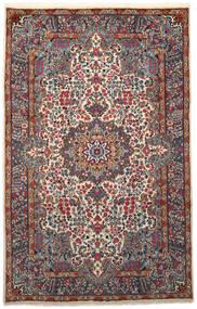 Kerman Matto 193X306 Itämainen Käsinsolmittu Musta/Vaaleanharmaa (Villa, Persia/Iran)