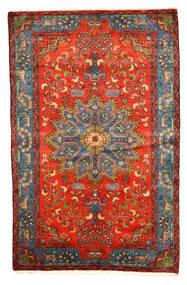 Nahavand Old Matto 158X246 Itämainen Käsinsolmittu Tummanpunainen/Vaaleanharmaa (Villa, Persia/Iran)