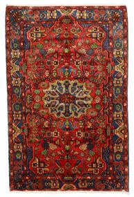 Nahavand Old Matto 150X235 Itämainen Käsinsolmittu Tummanpunainen/Tummanruskea (Villa, Persia/Iran)