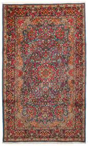 Kerman Matto 183X296 Itämainen Käsinsolmittu Tummanruskea/Tummanpunainen (Villa, Persia/Iran)