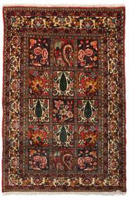 Bakhtiar Collectible Matto 99X151 Itämainen Käsinsolmittu Tummanruskea/Tummanpunainen (Villa, Persia/Iran)