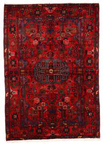 Nahavand Old Matto 162X243 Itämainen Käsinsolmittu Tummanpunainen/Ruoste (Villa, Persia/Iran)
