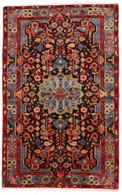 Nahavand Old Matto 150X240 Itämainen Käsinsolmittu Tummanruskea/Tummanpunainen (Villa, Persia/Iran)