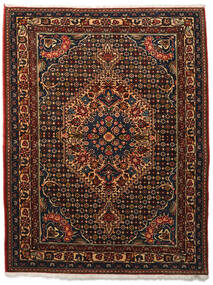 Bakhtiar Collectible Matto 113X144 Itämainen Käsinsolmittu Tummanruskea/Tummanpunainen (Villa, Persia/Iran)