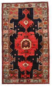 Nahavand Matto 138X236 Itämainen Käsinsolmittu Tummanpunainen/Vaaleanruskea (Villa, Persia/Iran)