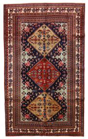 Ardebil Matto 153X253 Itämainen Käsinsolmittu Tummanpunainen/Musta (Villa, Persia/Iran)