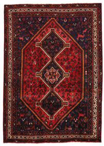 Shiraz Matto 205X288 Itämainen Käsinsolmittu Tummanpunainen/Ruoste (Villa, Persia/Iran)
