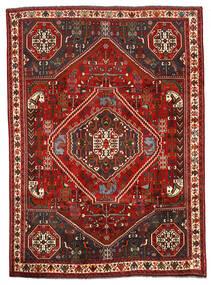 Shiraz Matto 198X274 Itämainen Käsinsolmittu Tummanruskea/Tummanpunainen (Villa, Persia/Iran)