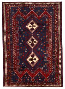 Afshar Matto 187X264 Itämainen Käsinsolmittu Tummanvioletti/Tummanpunainen (Villa, Persia/Iran)