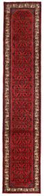 Hosseinabad Matto 82X413 Itämainen Käsinsolmittu Käytävämatto Tummanpunainen (Villa, Persia/Iran)
