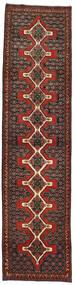 Senneh Matto 93X380 Itämainen Käsinsolmittu Käytävämatto Tummanpunainen/Tummanruskea (Villa, Persia/Iran)
