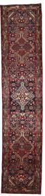 Hosseinabad Matto 81X388 Itämainen Käsinsolmittu Käytävämatto Tummanpunainen/Tummanruskea (Villa, Persia/Iran)