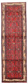 Hosseinabad Matto 89X258 Itämainen Käsinsolmittu Käytävämatto Tummanpunainen/Tummanruskea (Villa, Persia/Iran)
