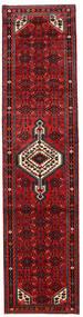 Hosseinabad Matto 80X260 Itämainen Käsinsolmittu Käytävämatto Punainen/Tummanpunainen/Tummanruskea (Villa, Persia/Iran)
