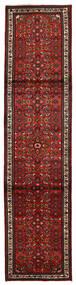 Hosseinabad Matto 80X330 Itämainen Käsinsolmittu Käytävämatto Tummanpunainen/Tummanruskea (Villa, Persia/Iran)