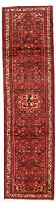 Hosseinabad Matto 78X300 Itämainen Käsinsolmittu Käytävämatto Tummanpunainen/Ruoste (Villa, Persia/Iran)