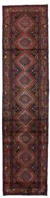 Hosseinabad Matto 77X318 Itämainen Käsinsolmittu Käytävämatto Tummanpunainen/Musta (Villa, Persia/Iran)