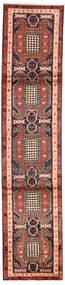 Ardebil Matto 68X311 Itämainen Käsinsolmittu Käytävämatto Tummanruskea/Tummanpunainen (Villa, Persia/Iran)