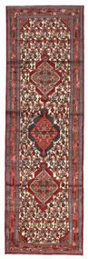 Hamadan Matto 85X270 Itämainen Käsinsolmittu Käytävämatto Tummanpunainen/Tummanruskea (Villa, Persia/Iran)