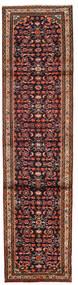 Hamadan Matto 76X300 Itämainen Käsinsolmittu Käytävämatto Tummanruskea/Tummanpunainen (Villa, Persia/Iran)