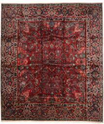 Sarough Matto 420X485 Itämainen Käsinsolmittu Tummanpunainen/Tummanruskea Isot (Villa, Persia/Iran)