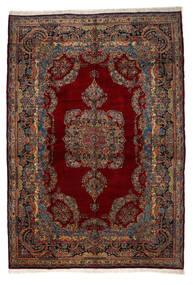 Kerman Ca. 1980 Matto 345X505 Itämainen Käsinsolmittu Tummanpunainen/Tummanruskea Isot (Villa, Persia/Iran)