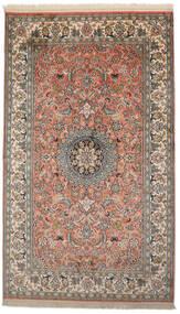 Kashmir 100% Silkki Matto 93X156 Itämainen Käsinsolmittu Tummanharmaa/Tummanpunainen (Silkki, Intia)