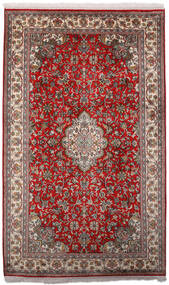 Kashmir 100% Silkki Matto 97X158 Itämainen Käsinsolmittu Tummanpunainen/Tummanruskea (Silkki, Intia)