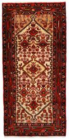 Hamadan Matto 80X165 Itämainen Käsinsolmittu Käytävämatto Tummanruskea/Tummanpunainen (Villa, Persia/Iran)
