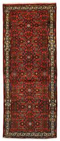 Hosseinabad Matto 73X185 Itämainen Käsinsolmittu Käytävämatto Tummanpunainen/Tummanruskea (Villa, Persia/Iran)