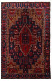 Nahavand Matto 151X222 Itämainen Käsinsolmittu Tummanpunainen/Musta (Villa, Persia/Iran)