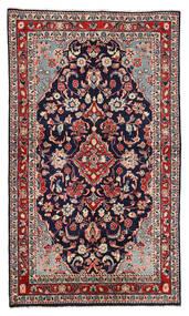 Sarough Matto 130X226 Itämainen Käsinsolmittu Tummanvioletti/Tummanpunainen (Villa, Persia/Iran)
