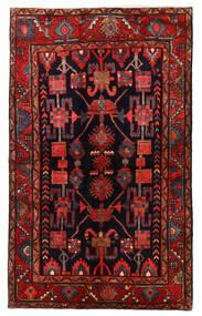 Hamadan Matto 133X219 Itämainen Käsinsolmittu Tummanpunainen/Tummanruskea (Villa, Persia/Iran)
