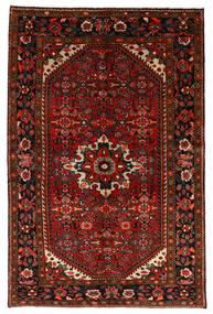 Hosseinabad Matto 147X225 Itämainen Käsinsolmittu Tummanpunainen/Ruoste (Villa, Persia/Iran)