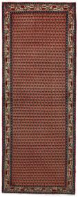 Sarough Matto 77X200 Itämainen Käsinsolmittu Käytävämatto Tummanpunainen/Tummanruskea (Villa, Persia/Iran)