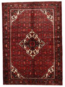 Hosseinabad Matto 154X219 Itämainen Käsinsolmittu Tummanpunainen (Villa, Persia/Iran)