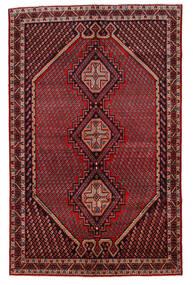 Afshar/Sirjan Matto 147X232 Itämainen Käsinsolmittu Tummanpunainen/Tummanharmaa (Villa, Persia/Iran)
