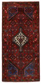 Hamadan Matto 80X173 Itämainen Käsinsolmittu Käytävämatto Tummanruskea/Tummanpunainen (Villa, Persia/Iran)