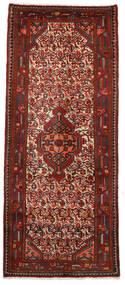 Hamadan Matto 75X180 Itämainen Käsinsolmittu Käytävämatto Tummanpunainen/Tummanruskea (Villa, Persia/Iran)