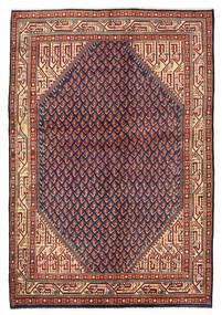 Sarough Mir Matto 139X203 Itämainen Käsinsolmittu Tummanpunainen/Musta (Villa, Persia/Iran)