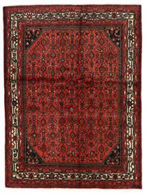 Hamadan Matto 145X195 Itämainen Käsinsolmittu Tummanpunainen/Ruoste (Villa, Persia/Iran)