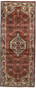 Hamadan Matto 80X194 Itämainen Käsinsolmittu Käytävämatto Tummanruskea/Tummanpunainen (Villa, Persia/Iran)